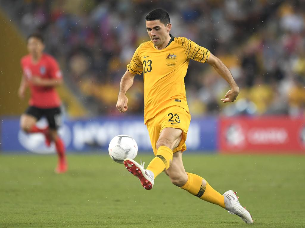 Tom Rogic appears to have overcome his injury and will be available to play in the Asian Cup. Picture: Getty Images