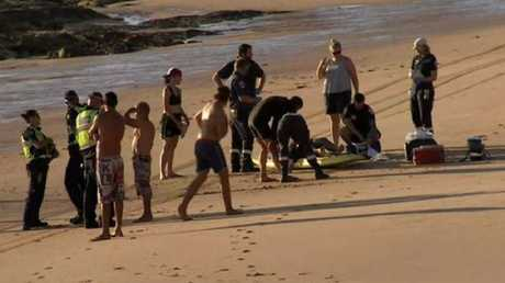 A 45-year-old man could not be revived at the scene. Picture: Channel Nine