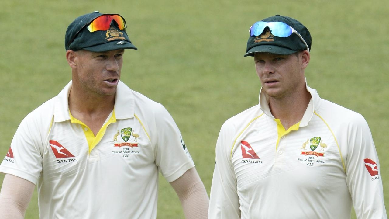 David Warner and Steve Smith have denied a falling out between them. Picture: Getty Images