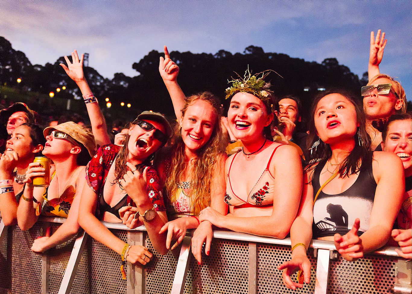 HEAD LINERS: Non traditional head dresses should be fine to wear, like the one in this image from last year's Falls Byron Bay.