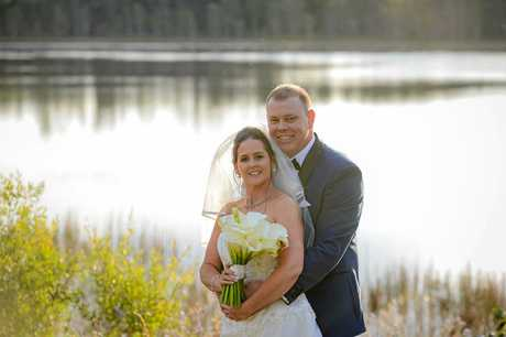 Kristen Launt and Gavin Shill have tied the knot at Pelican Waters Golf Club.