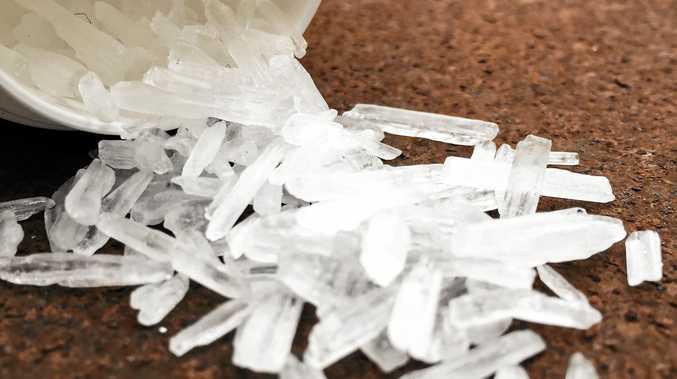 Methamphetamine also known as crystal meth.