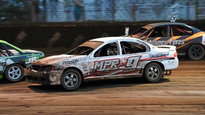 BUMPER WEEKEND: Joel Berkley in the Maryborough Speedway Production Sedan Kurt Murdoch Classic in 2017. Berkley will contest this year's race alongside other Maryborough racers.