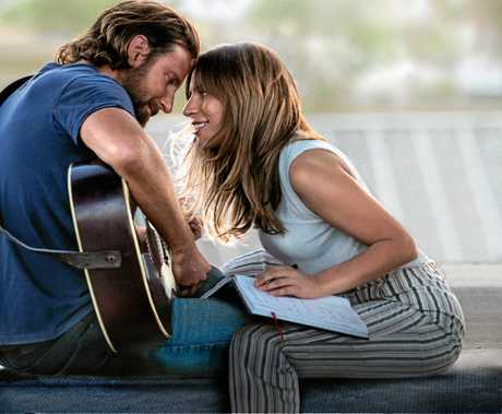 Bradley Cooper and Lady Gaga in a scene from the movie A Star is Born. Supplied by Warner Bros.