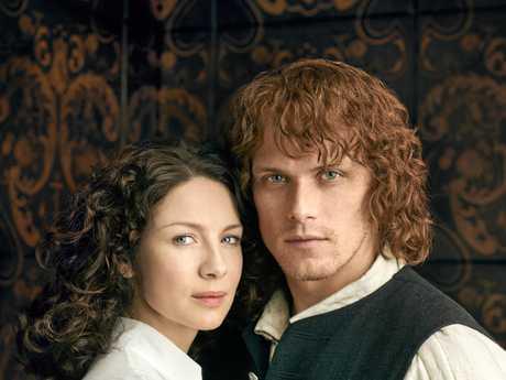 Caitriona Balfe and Sam Heughan star in Outlander.