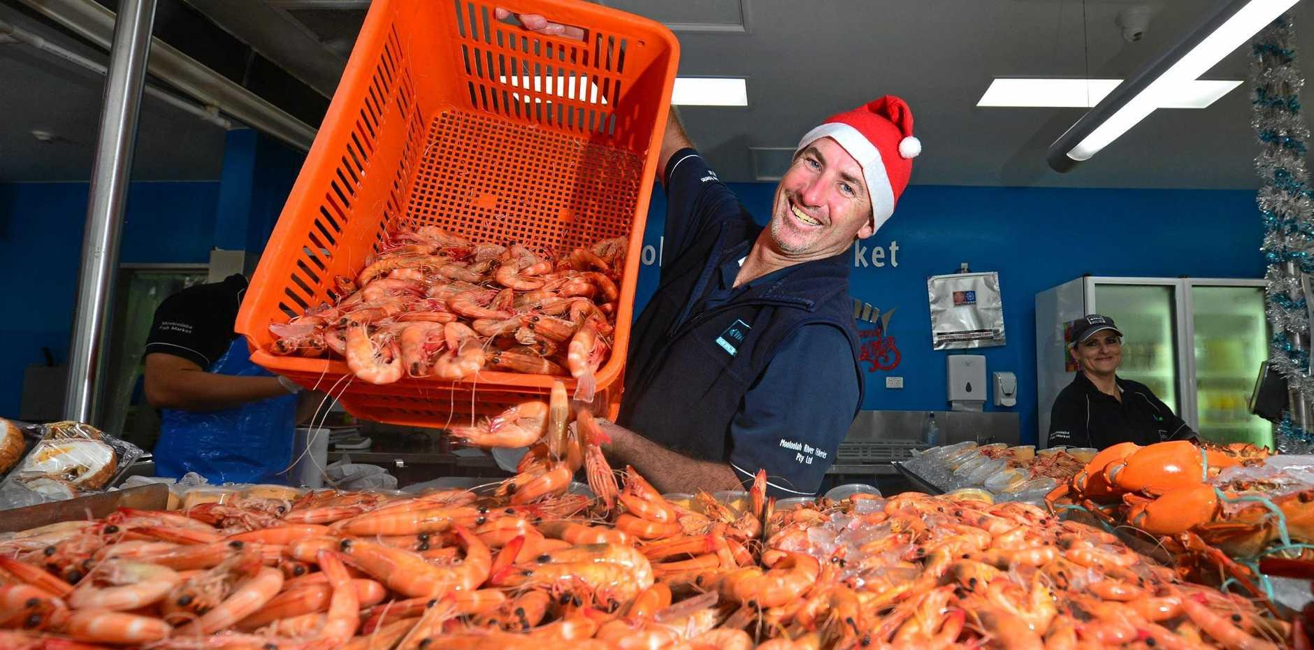 BUY AUSTRALIAN: Mooloolaba Fish Market seafood manager Kristian Penny.