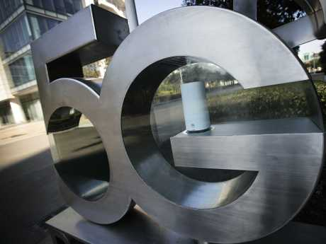 A Huawei 5G sign at its research and development centre in Shenzhen in south China's Guangdong province. Picture: AP