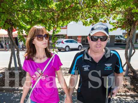 Andrew Broad Nationals MP stepped out with wife Rachel after the scandal broke. Picture: Jason Edwards