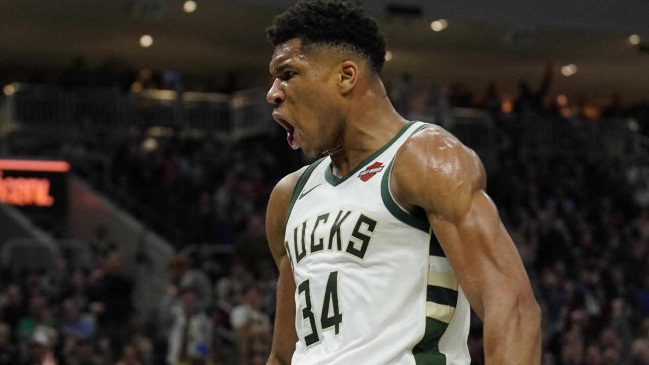 Giannis Antetokounmpo had a wow of a game. Picture: AP