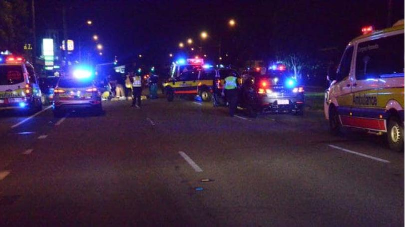 Two people have died after being hit by a car on Ross River Rd in Townsville on Christmas Eve. Source:News Corp Australia