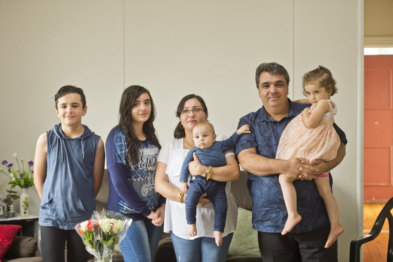 ( From left ) Wissam, Avista, Ramia, Lowrens, Mustafa and Manissa Othman. Monday, 17th Dec, 2018.