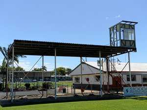 Down comes the Martens Oval stand