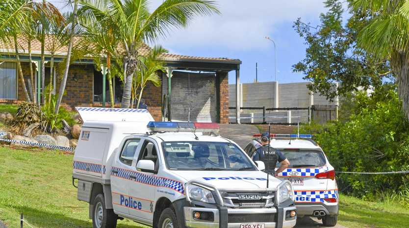 SUSPICIOUS FIRE: Police investigate the fire at 9 Hoskyn Court, Clinton.