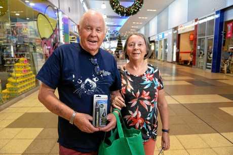 Peter and Julie Bertram at Riverlink Shopping Centre.