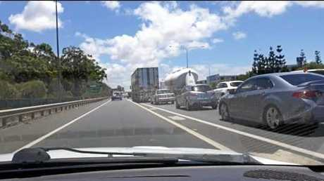 Drivers heading home from Brisbane are experiencing the worst of the traffic.