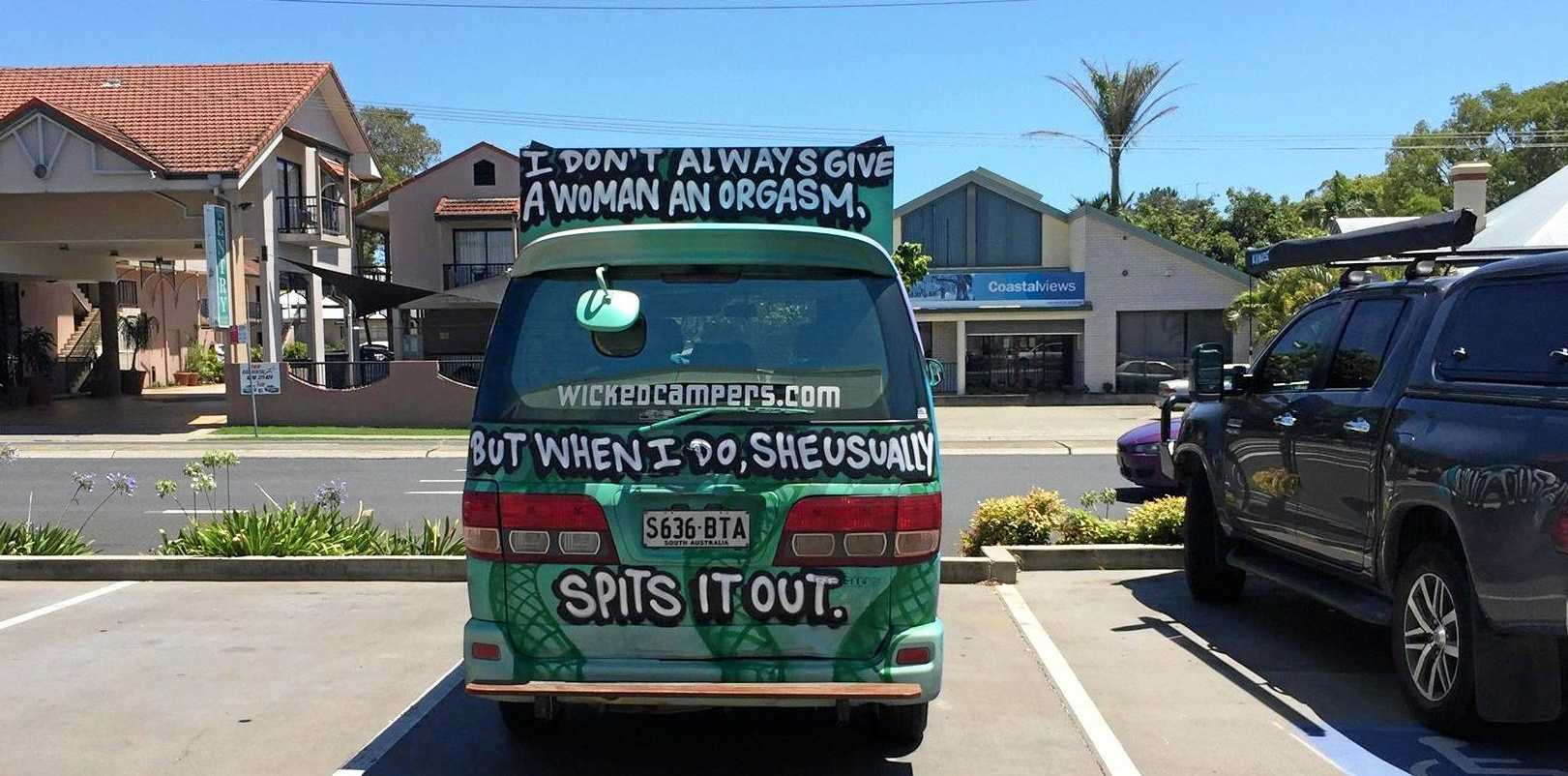 Not Wicked, just misogynist. This camper van sends a message to the families having lunch in Grafton on Thursday, as well as women in general.