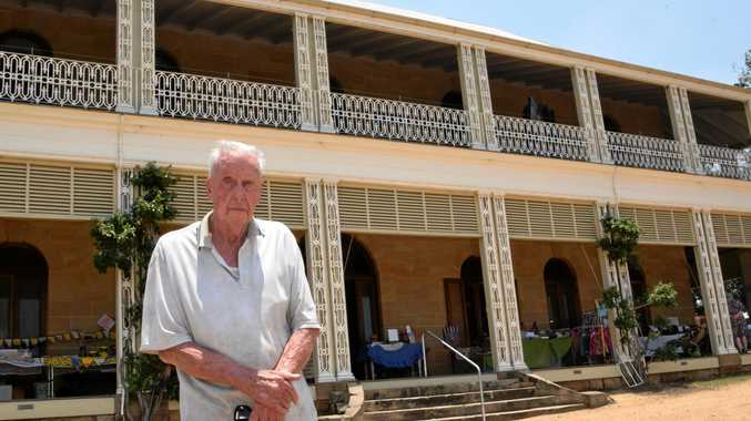FAMILY TIES: John Baly, the great-grandson of John Deuchar, is pleased to see the lavish Glengallan Homestead, started by his great-grandfather, renovated by a team of volunteers.