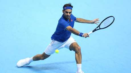 Roger Federer, seemingly ageless.