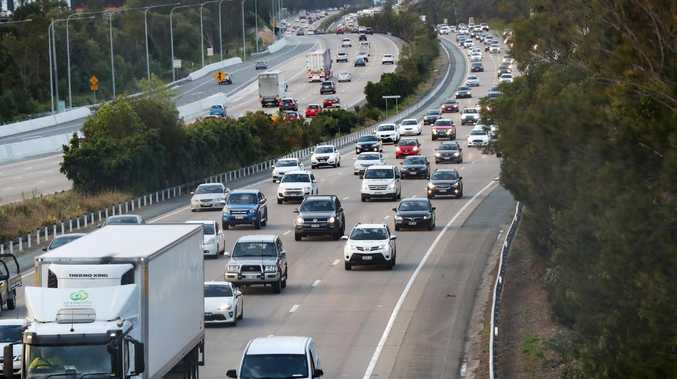 Heavy delays are again being seen on the M1, Bruce Hwy and Gateway Mwy. Picture: Nigel Hallett