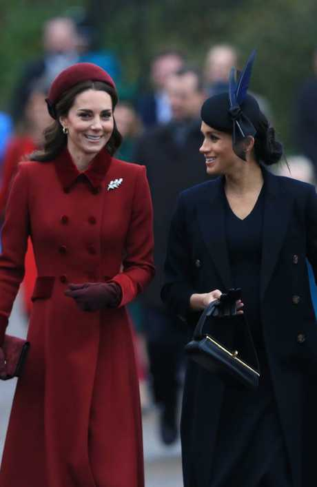 The sisters-in-law were all smiles despite reports of a growing feud. Picture: Getty Images