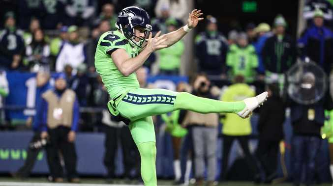 Seattle Seahawk punter Michael Dickson can do everything. Picture: Getty Images