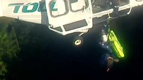 """The man is """"lucky to be alive"""". Picture: 7 News"""