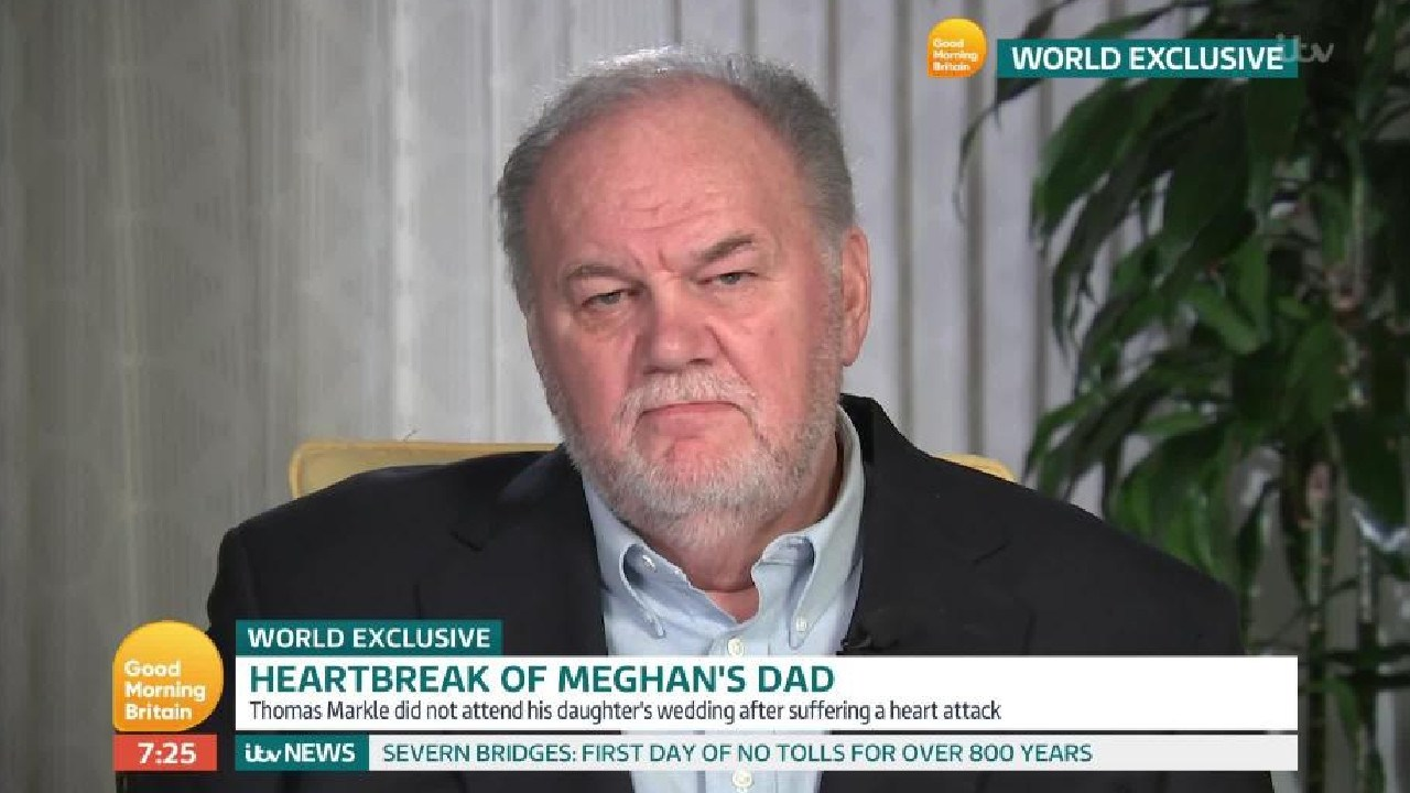 Thomas Markle has given multiple interviews about his daughter, Meghan. Picture: Good Morning Britain
