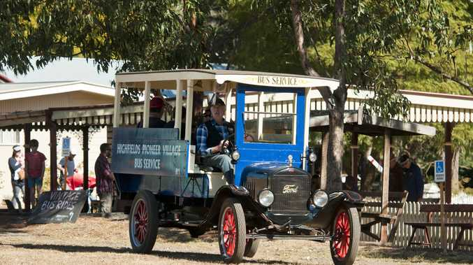 HISTORICAL TREASURE: The Highfields Pioneer Village will have miniature steam train and Model T Ford bus rides today.