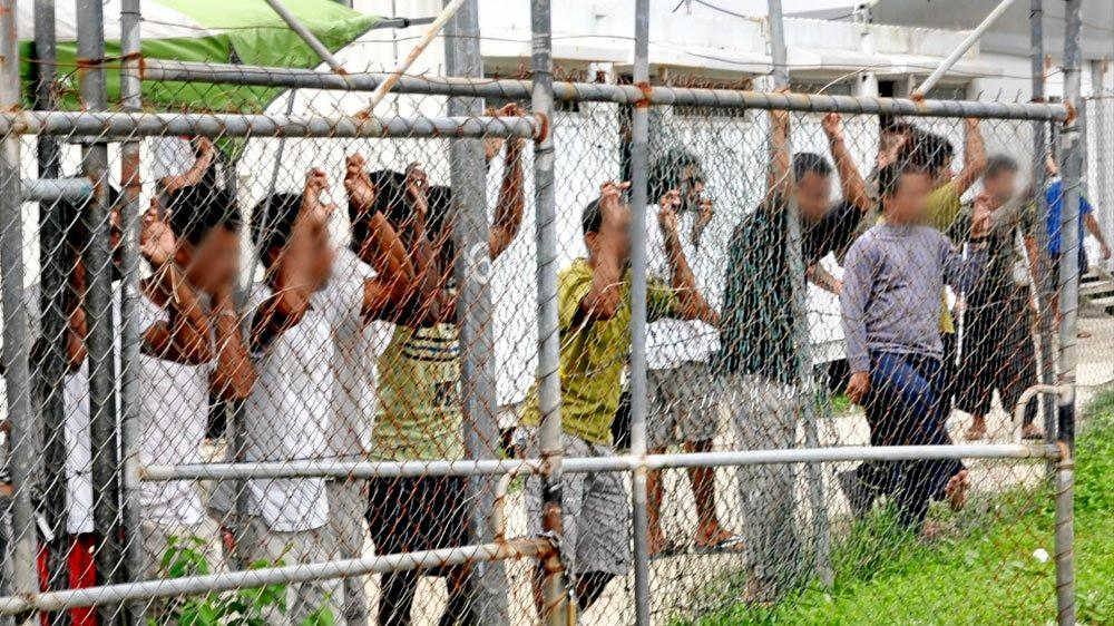 TRAPPED: Manus Island detainess are doing their time tough.