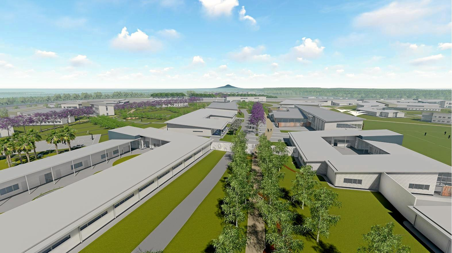 SKY IS THE LIMIT: Artist impression of Clarence Correctional Centre, which one nearby resident believes will have sufficient roof coverage to power the facility with solar panels.