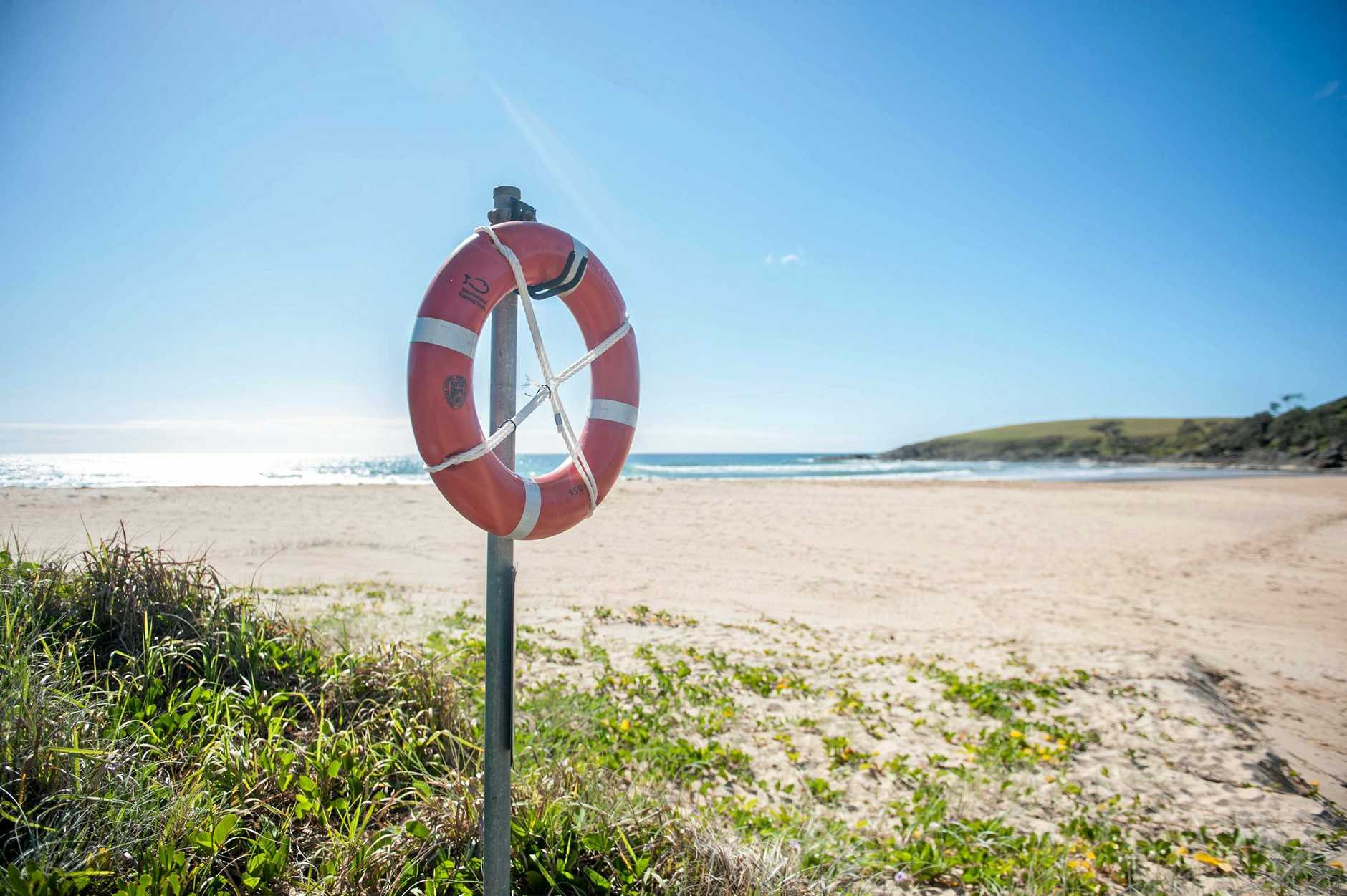An angel ring has now been placed on Moonee Beach, the site of four drownings within five days.