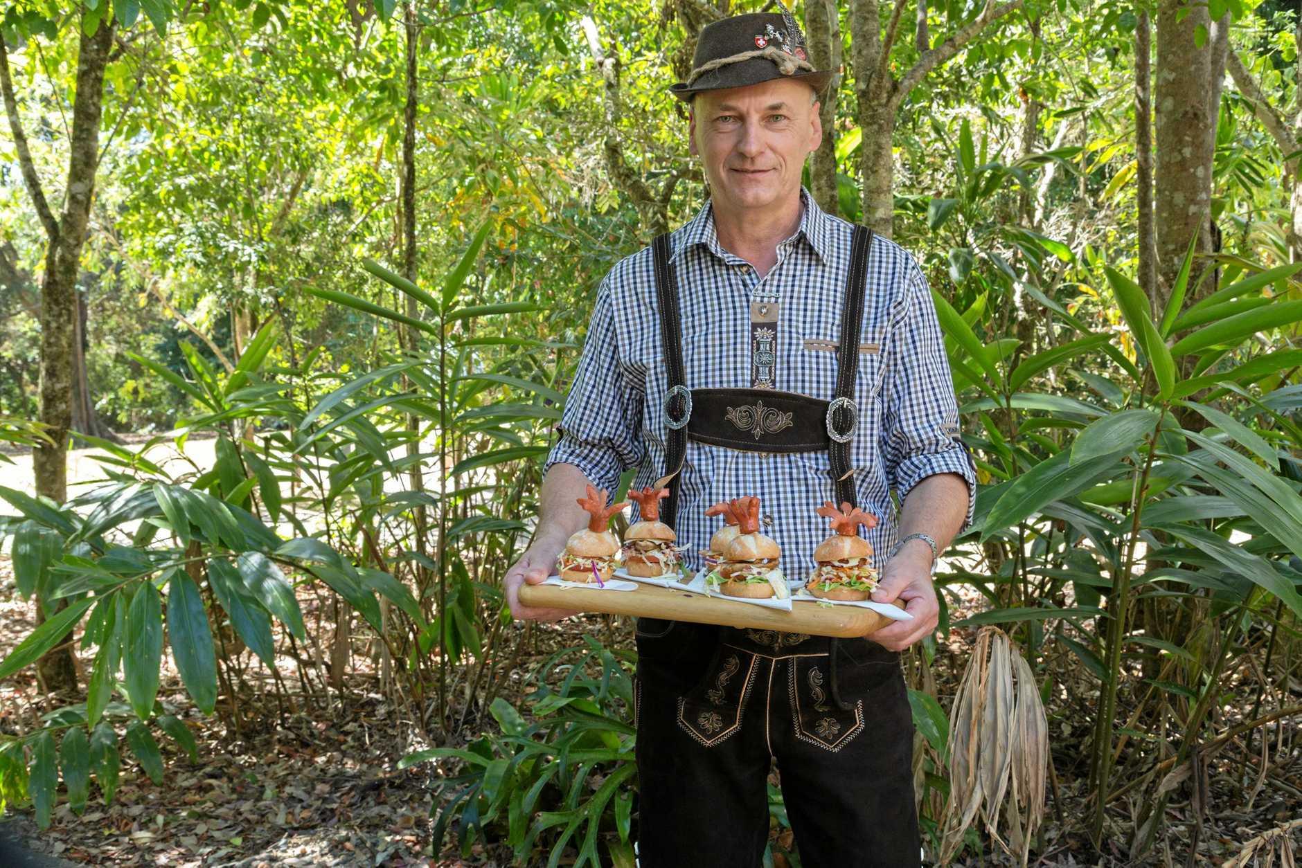 LOST WAGES: Injured mine worker Oskar Krobath  during his cheffing days.
