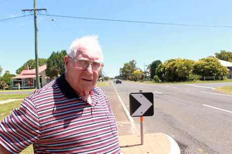 Allora resident David Ffinch has been lobbying for a solution to the speeding traffic on Forde St for five years. Now an interim solution is in place, he's happy to see cars slow down.