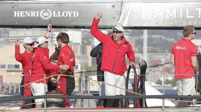 Wild Oats XI skipper Mark Richards was all smiles on Friday morning.