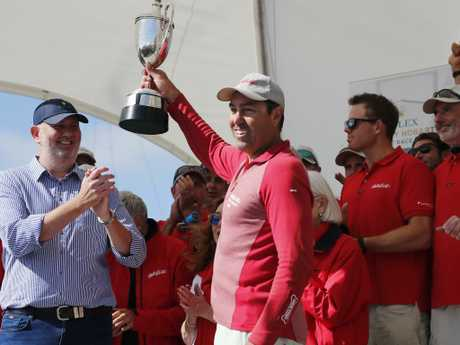 Mark Richards' smile may vanish if the jury finds against Wild Oats XI.