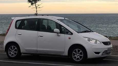 Nischal Ghimire's white Mitsubishi Colt was found parked by the beach.