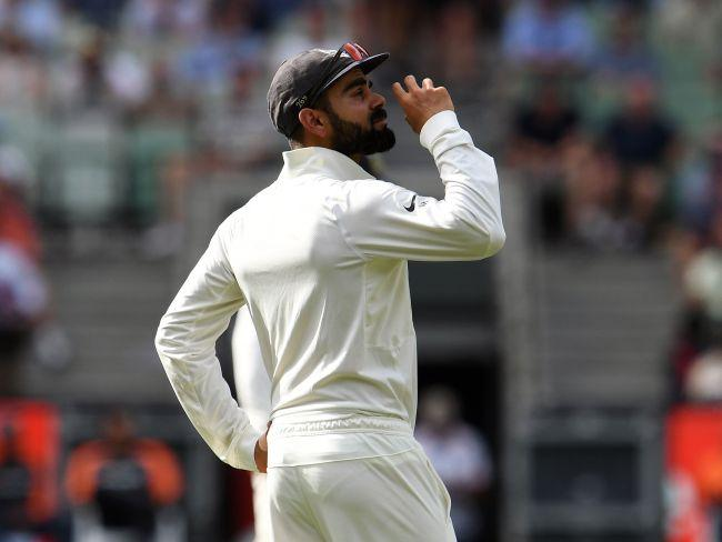 Virat Kohli interacts with the MCG fans.