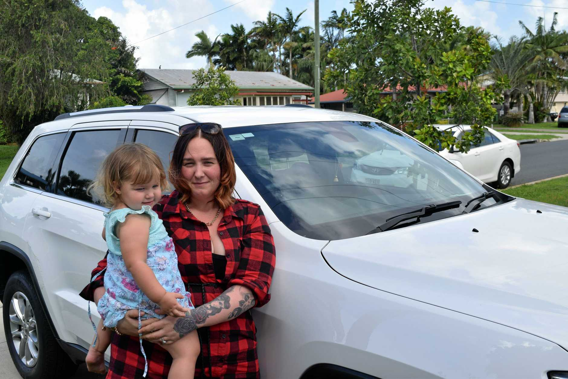 DOUBLE TROUBLE: Mother of three Danielle Nielsen had her car stolen twice in four days from her family's driveway.