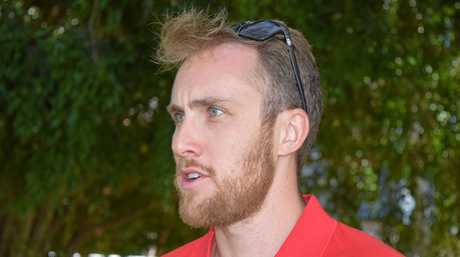 Surf Life Saving Queensland regional manager Aaron Purchase addressed media after a drowning at Dicky Beach on Saturday.