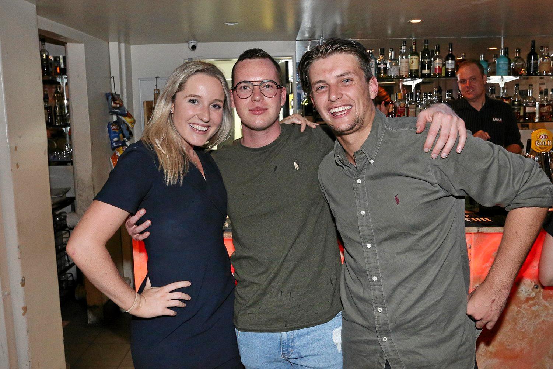 Erin Buchan, Tim Klingner and Jesse Sweet at the Ginger Mule.