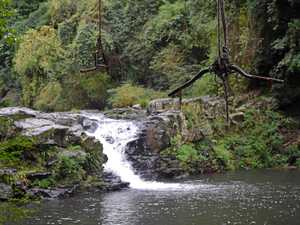 Girl, 8, injured in waterfall incident