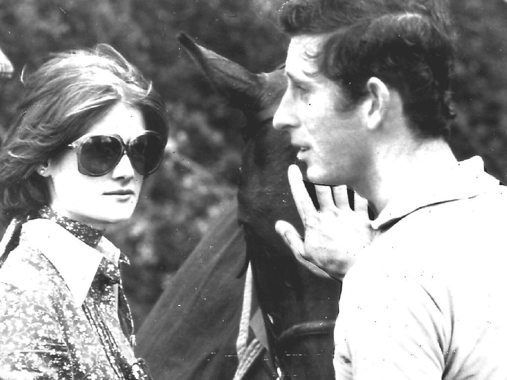 Lady Sarah and Prince Charles in 1977.