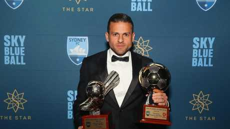 Fan favourite Bobo won the Golden Boot and Player of the Year awards for Sydney FC last season. Picture: Getty