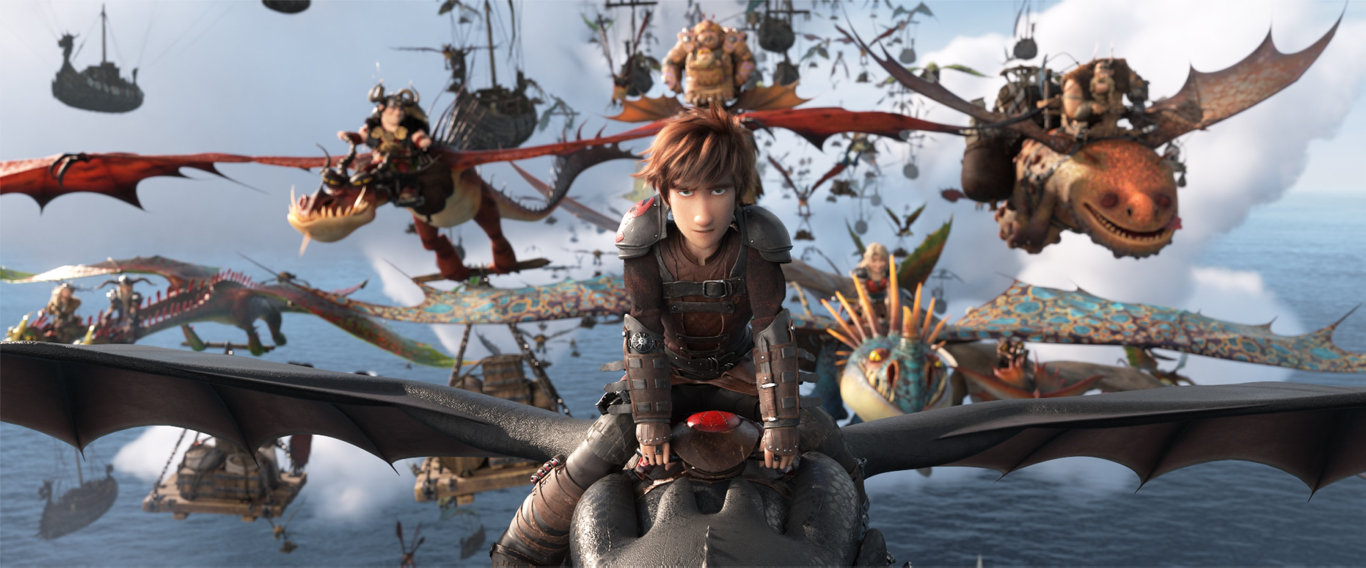 Hiccup in a scene from the movie How To Train Your Dragon: The Hidden World.