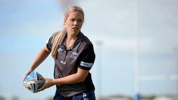 TRY HARD: Katie Green, Mackay and Districts Rugby League Women's highest try scorer at BB Print Stadium.