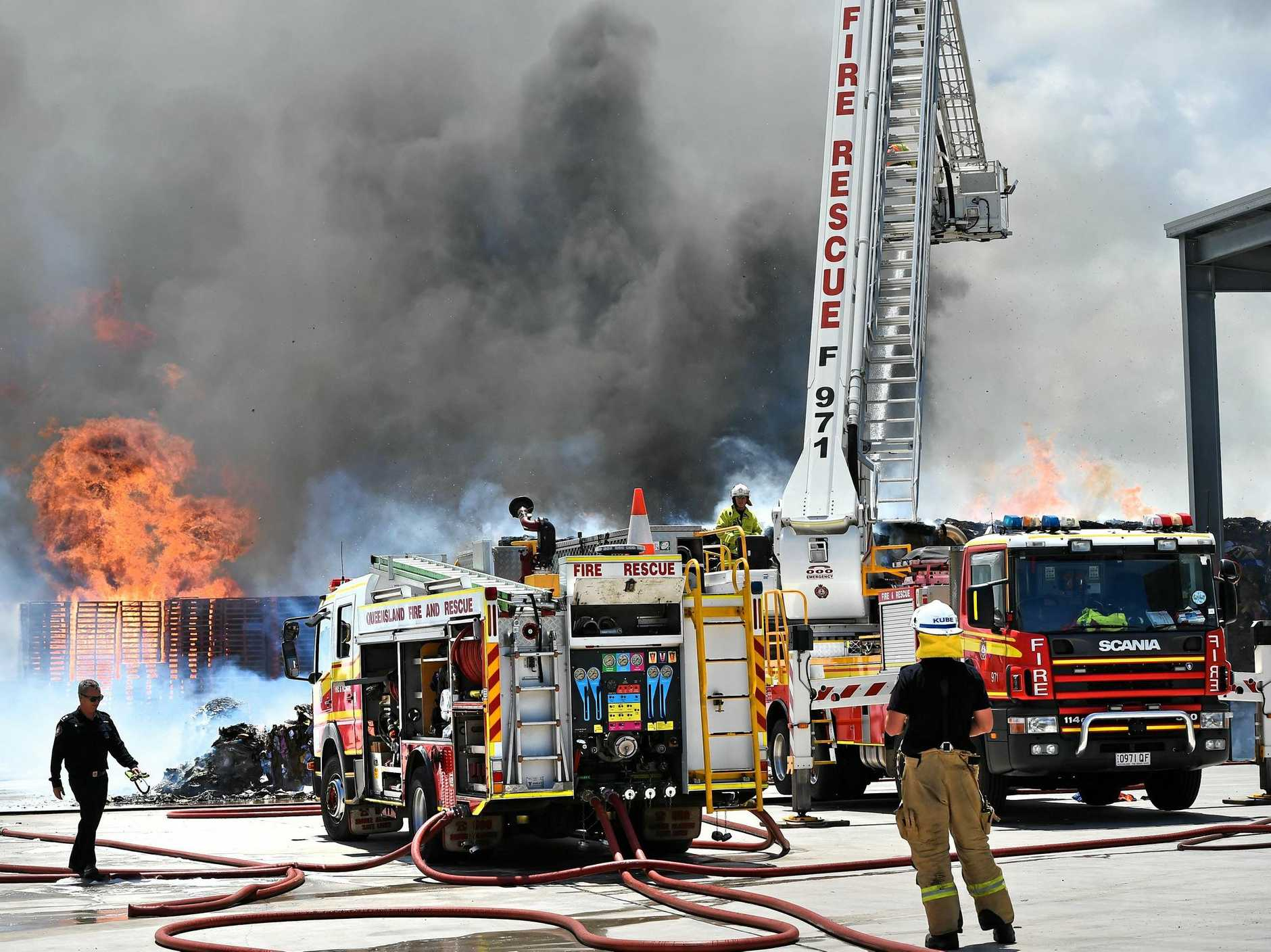 Emergency services put in an incredible effort at an industrial fire in Coolum, which preceded a weekend of emergencies across the Coast.