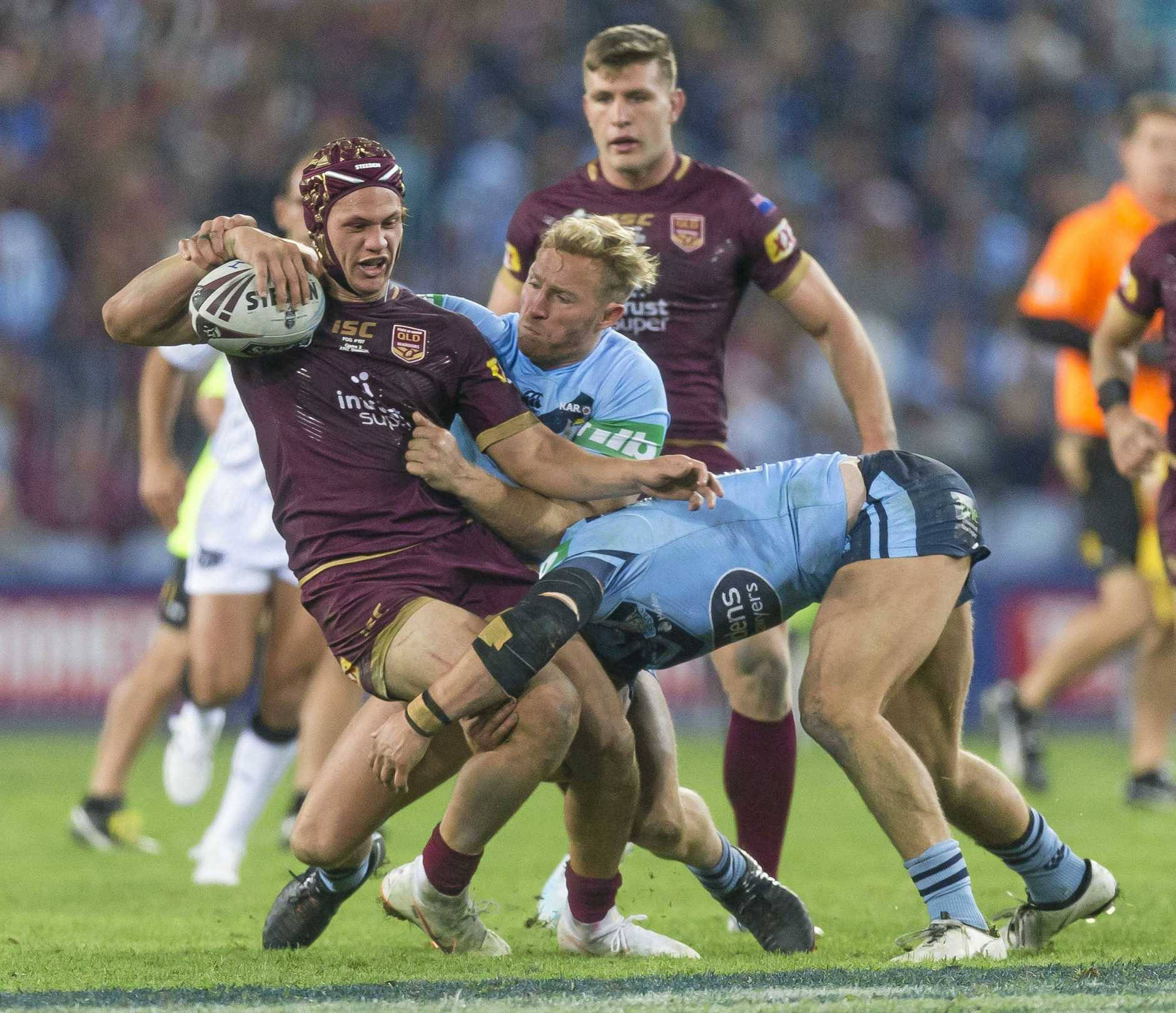 Kalyn Ponga lapped up his Origin debut. (AAP Image/Craig Golding)