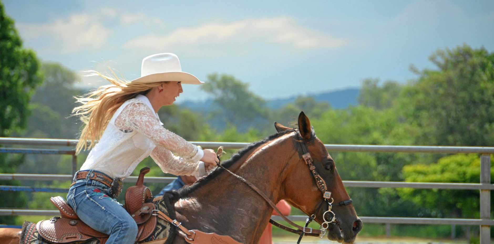 The 2017 Rodeo Queen Creedence Donoghue at the Goomeri Rodeo.