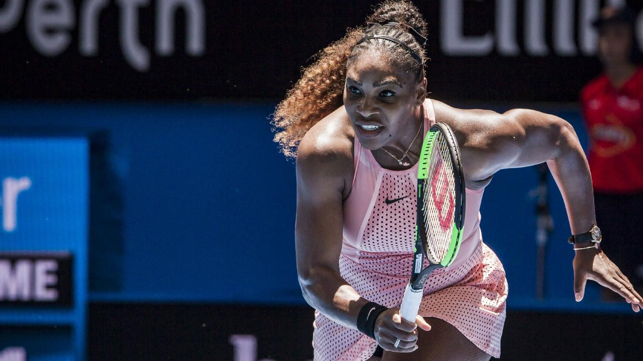 Serena Williams in action against Greece in the Hopman Cup. Pic: AAP