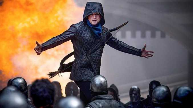 Taron Egerton in the rather forgettable Robin Hood movie.